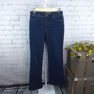 NYDJ High Rise Wide Leg Jeans Dark Wash Sz 4P